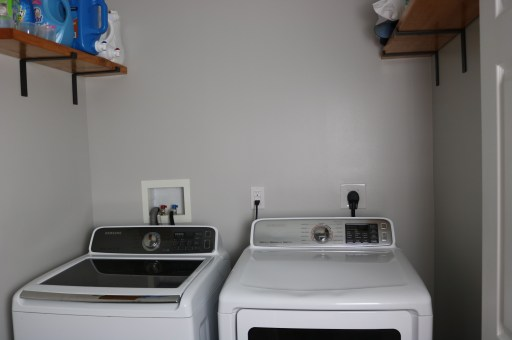laundry room before peel and stick tile