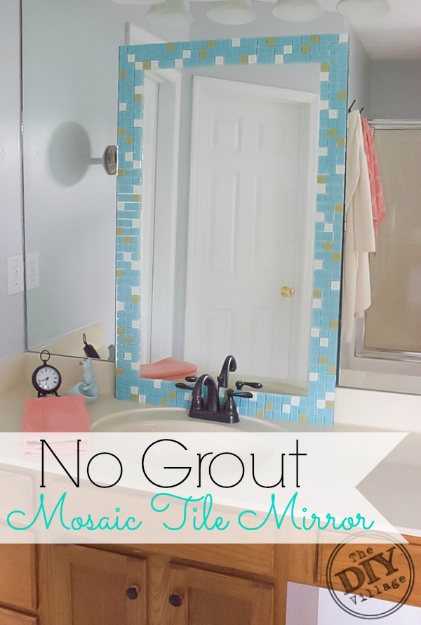 no grout mosaic tile mirror the diy