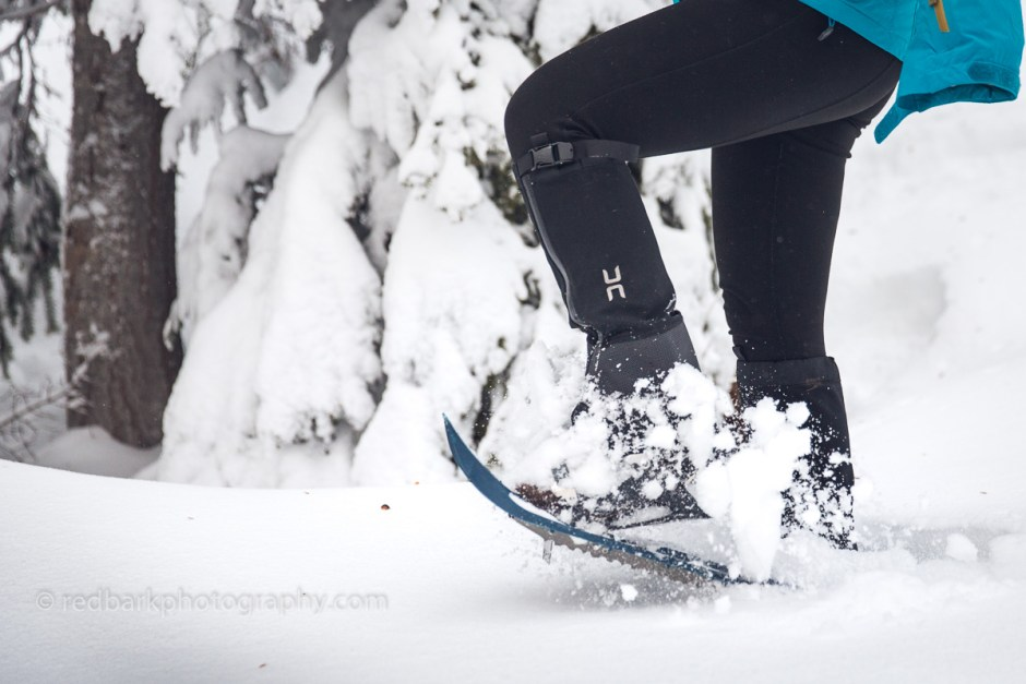Snowshoes and gaiters are key to hiking in snow