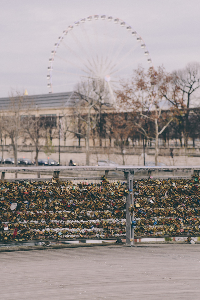 Paris Christmas love locks pont des arts