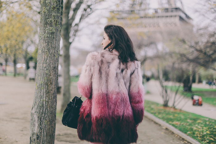 Paris Christmas parosh fur coat
