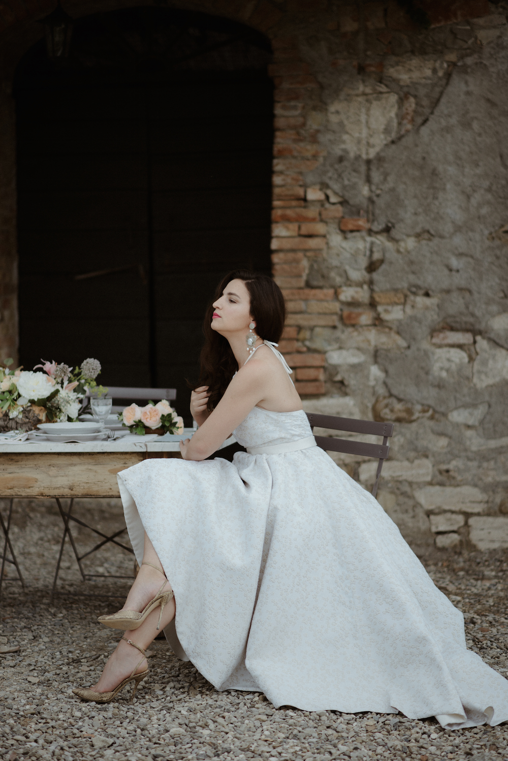Fashion Blogger Wedding Tuscany Gucci shoes