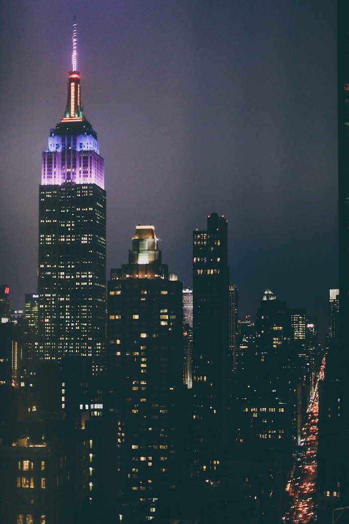 Empire State building as seen from the New York edition Hotel suite