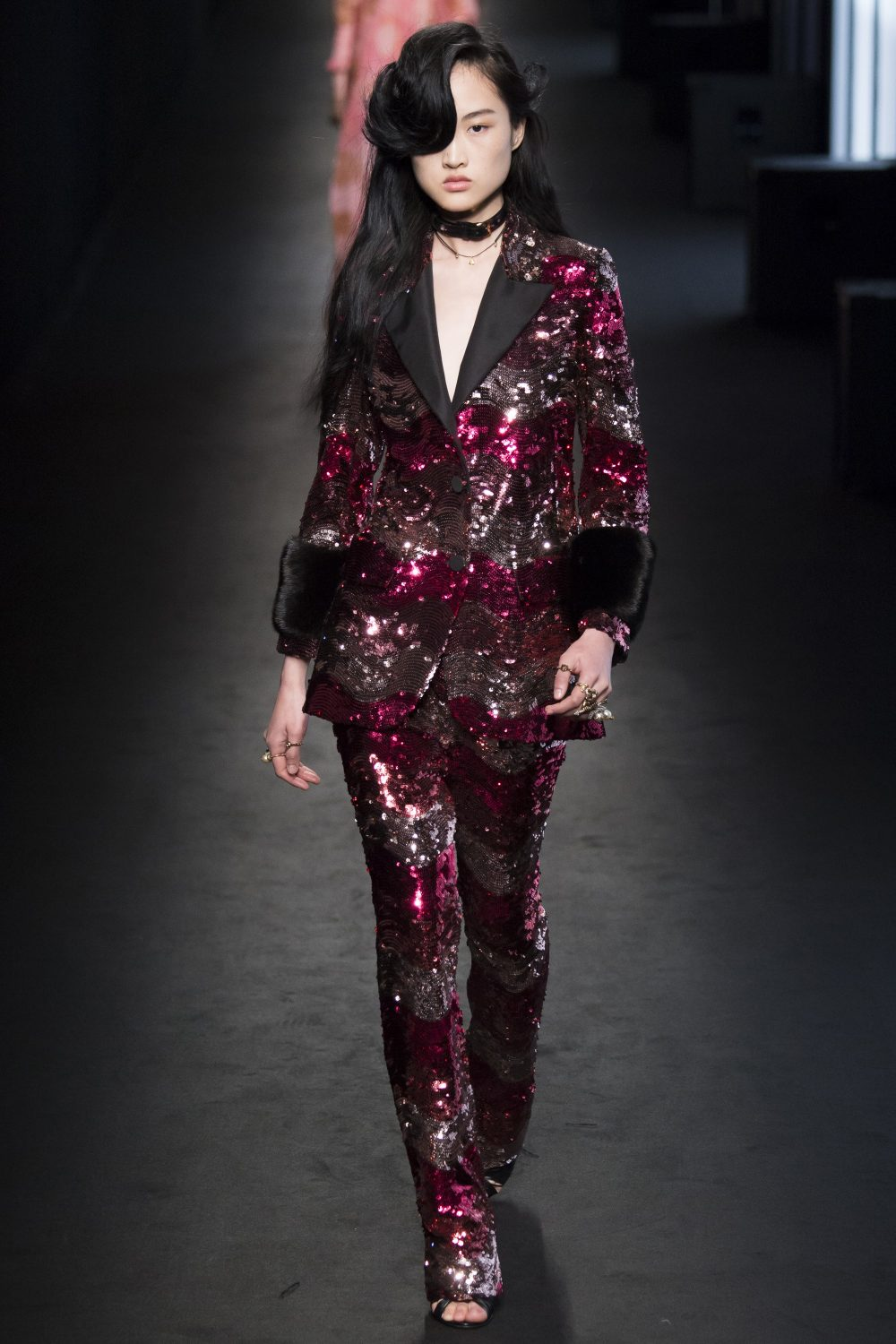 fashion trend sequin pantsuit gucci
