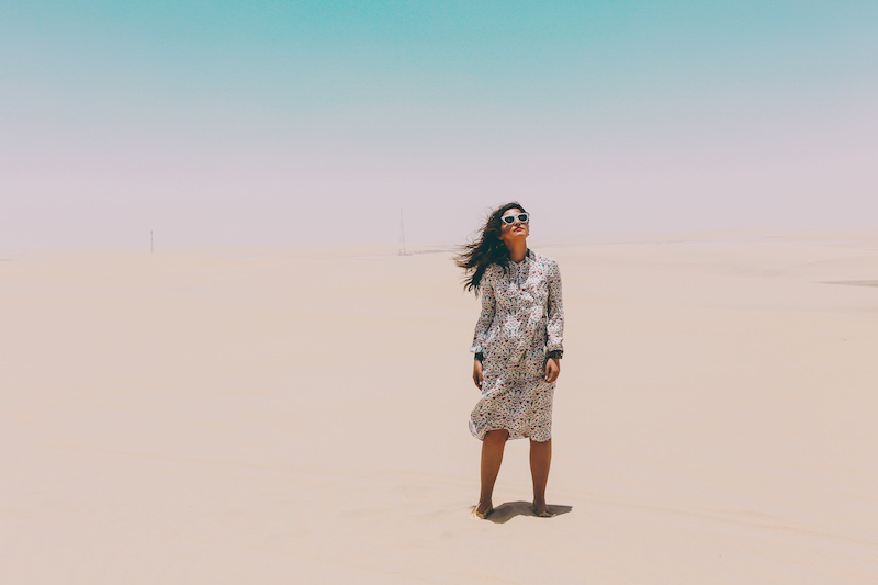 doha qatar desert beauty blogger