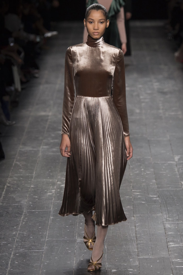 fashion trend metallics Valentino