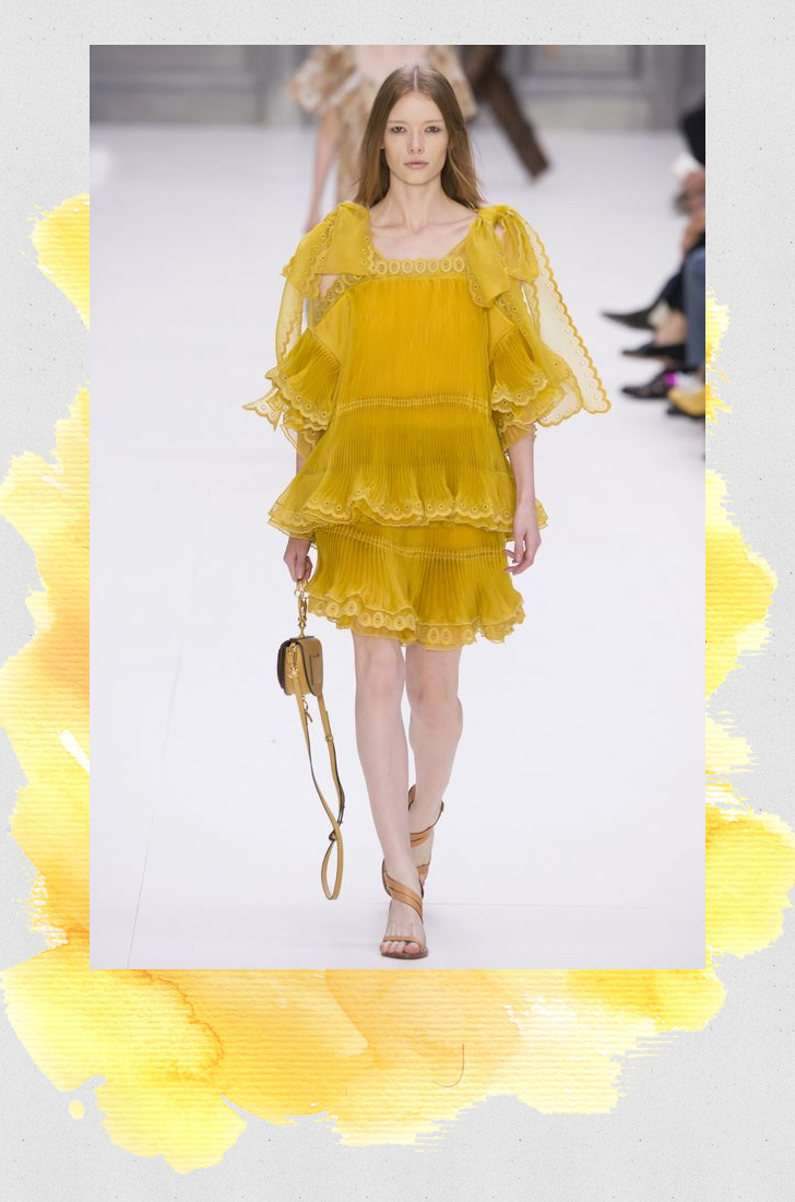 Chloé primrose yellow fashion trend