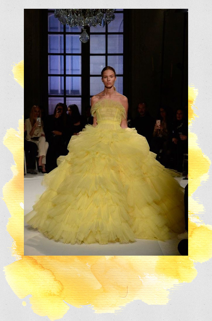 giambattista valli primrose yellow dress 2017 fashion trend