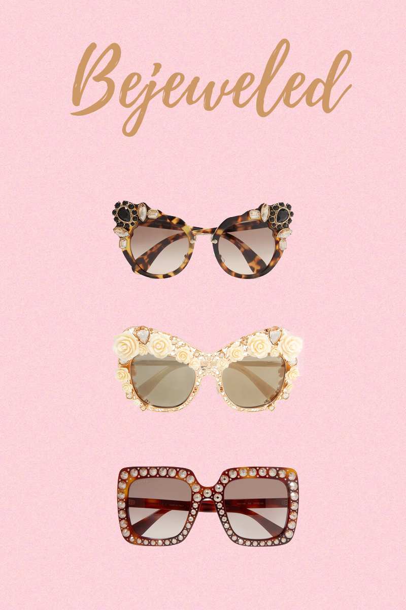 sunglasses trend bejeweled