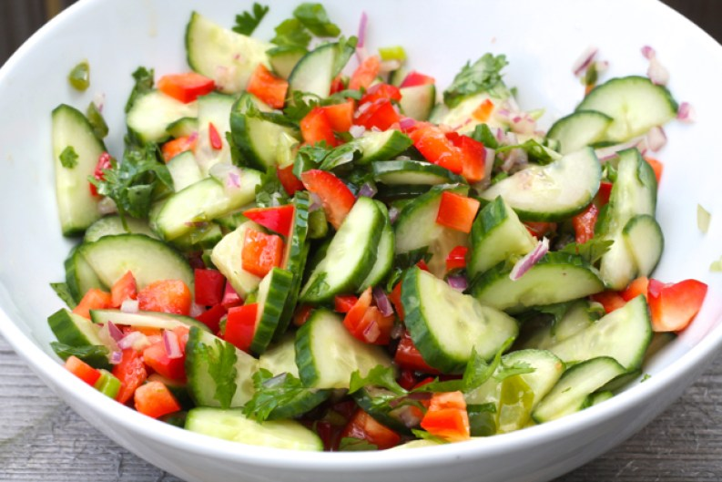 Thai Sweet & Sour Cucumber Salad | thedomesticblonde.com