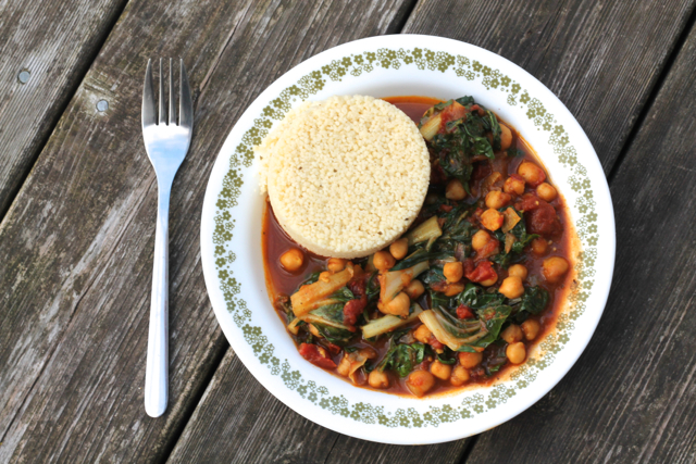 Chipotle Chickpea Swiss Chard Curry