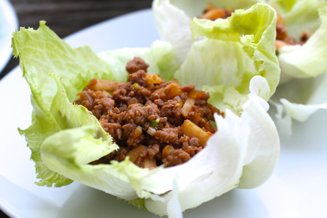 Asian Turkey Lettuce Wraps | thedomesticblonde.com