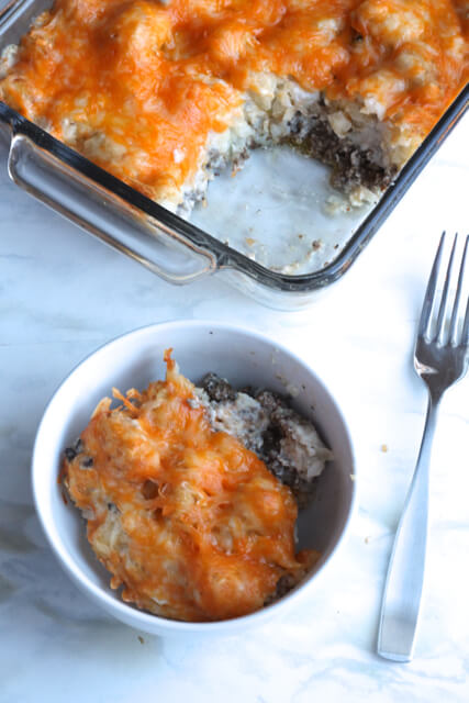 Tater Tot Casserole | thedomesticblonde.com
