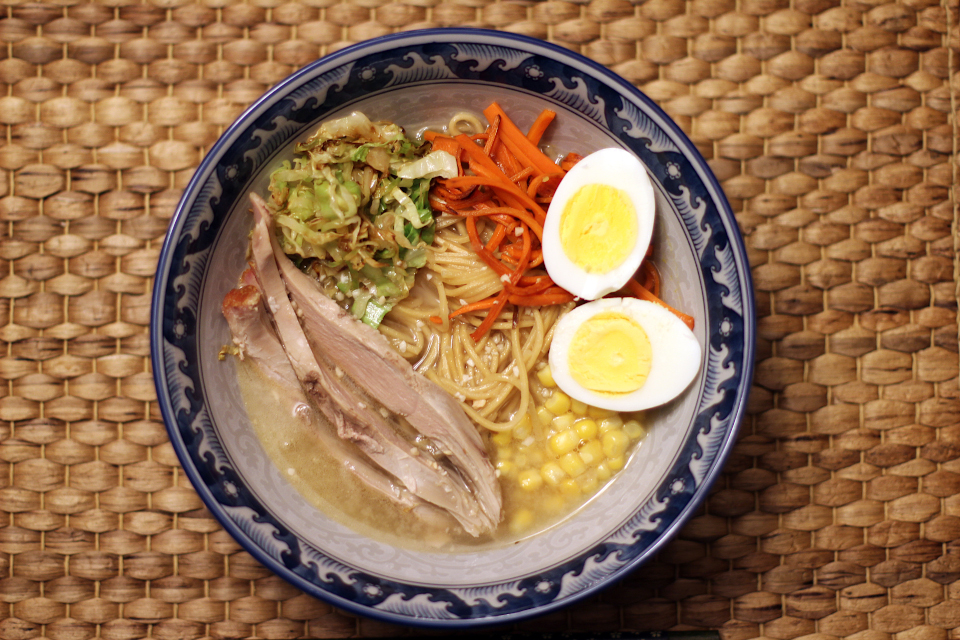 LEFT-OVER TURKEY RAMEN