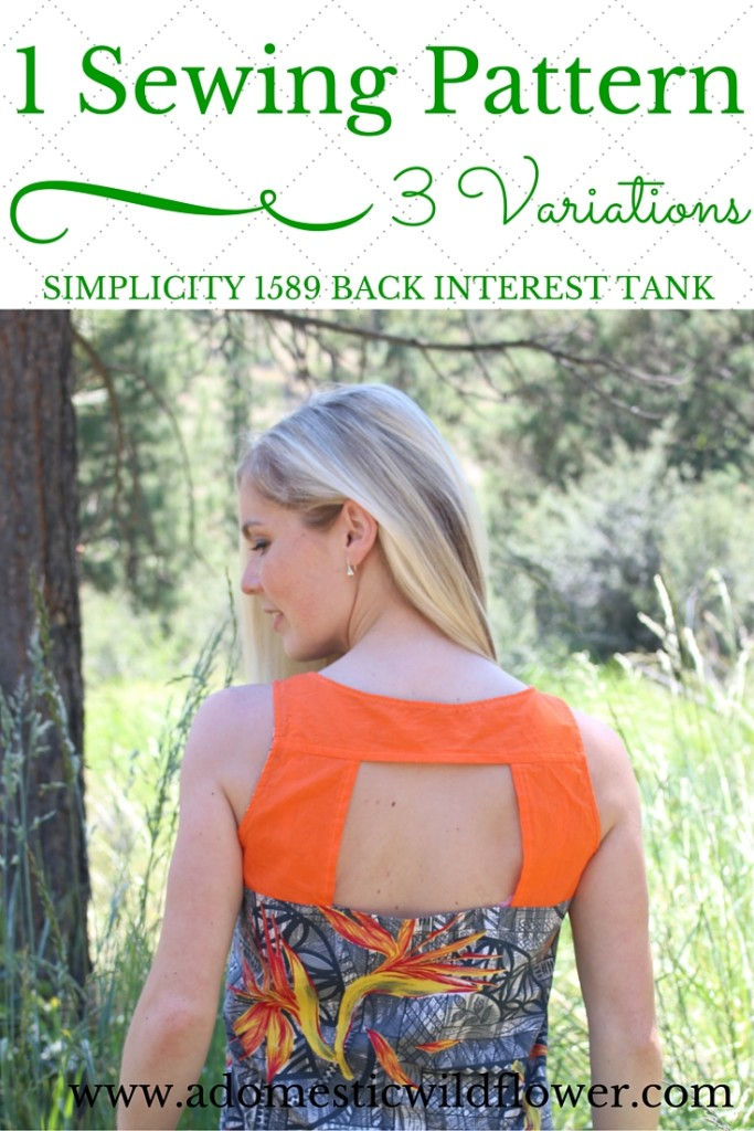 1 Sewing Pattern, 3 Variations: Simplicity 1589 | A Domestic Wildflower click through to read this helpful beginner sewing post that demonstrates how easy it is to make very different garments from one pattern.