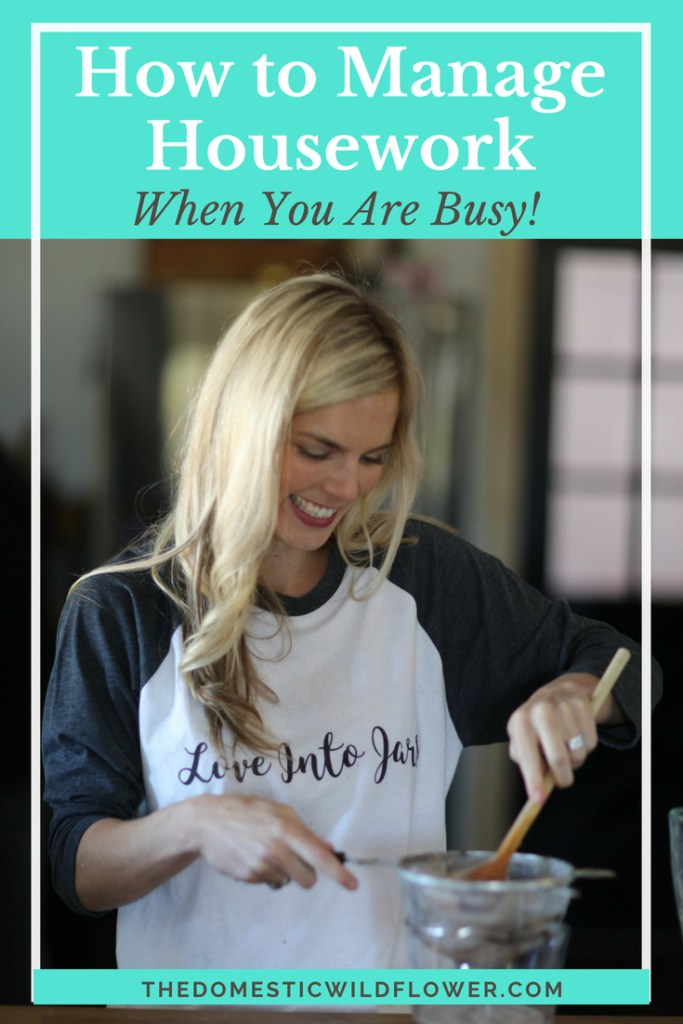 How to Manage Housework When You Are Busy! This post shares some great tips for getting control of your housework situation.
