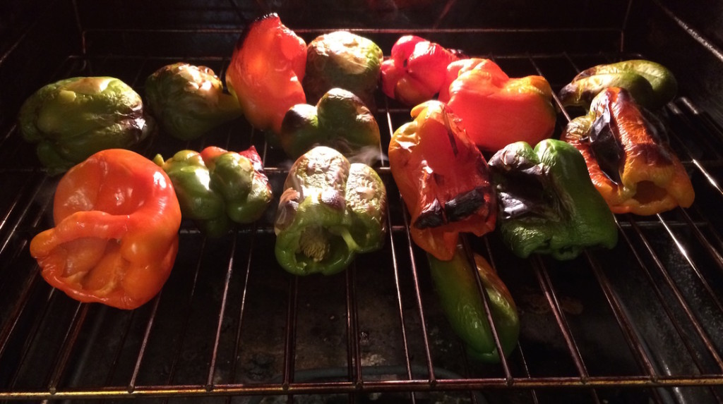 Roasted Bell Peppers: How to Can Roasted Bell Peppers Recipe and Tutorial   A Domestic Wildflower click through to read the beginner friendly tutorial and make delicious and versatile roasted bell peppers!