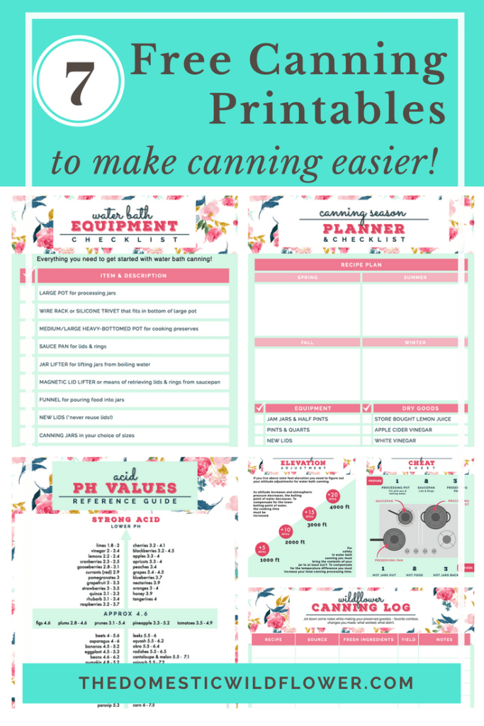 This post will share canning printables that will make canning season easier for a beginner and an experienced preserver- they are free, useful, and beautiful- get them in the post!