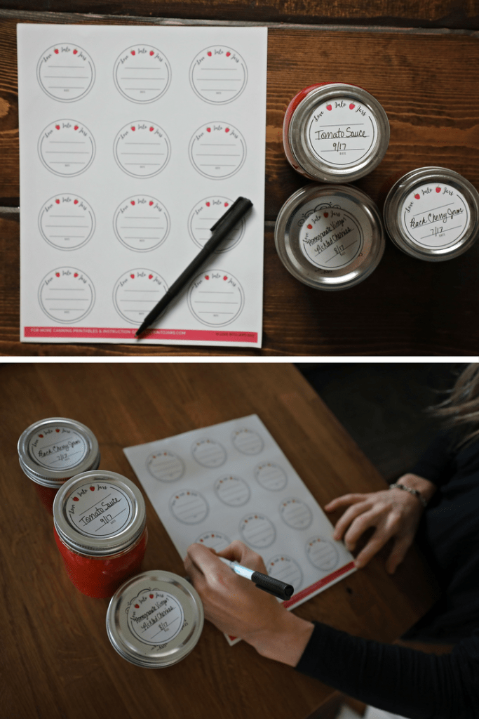 Round Canning Jar Labels | Love Into Jars