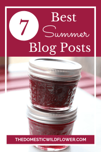 7 Summer Blog Posts from The Domestic Wildflower | Homemade food & craft ideas and recipes to take you through summer!