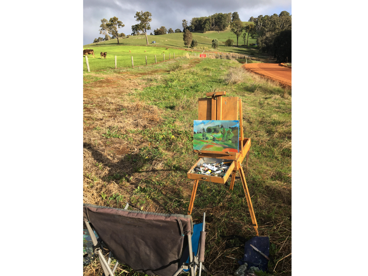Michael Knight Donnelly River plein air painting