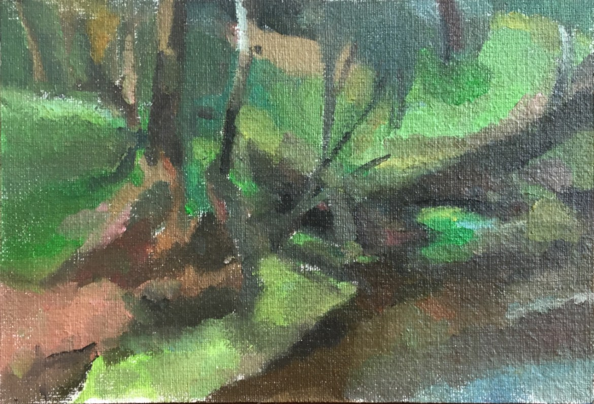 Michael Knight Donnelly River study - oil on canvas