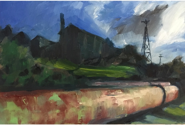 Harvey Mullen, Donnelly River Horizontal Chimney Stacks