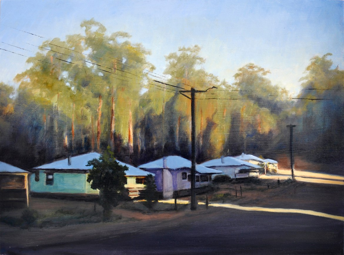 1.Peter Barker, The Village, oil on canvas 45x60cm $920