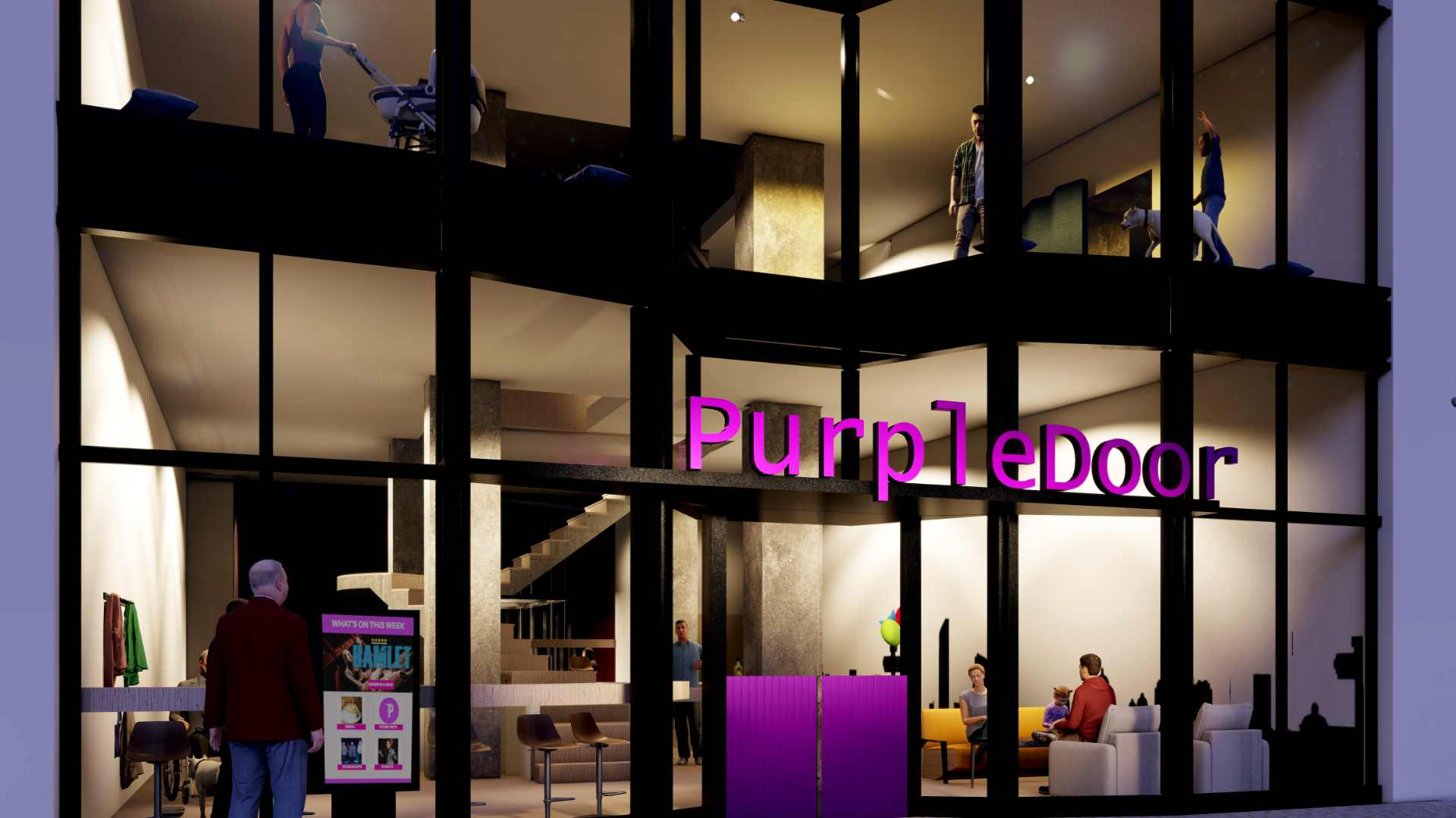 exterior of the purpledoor