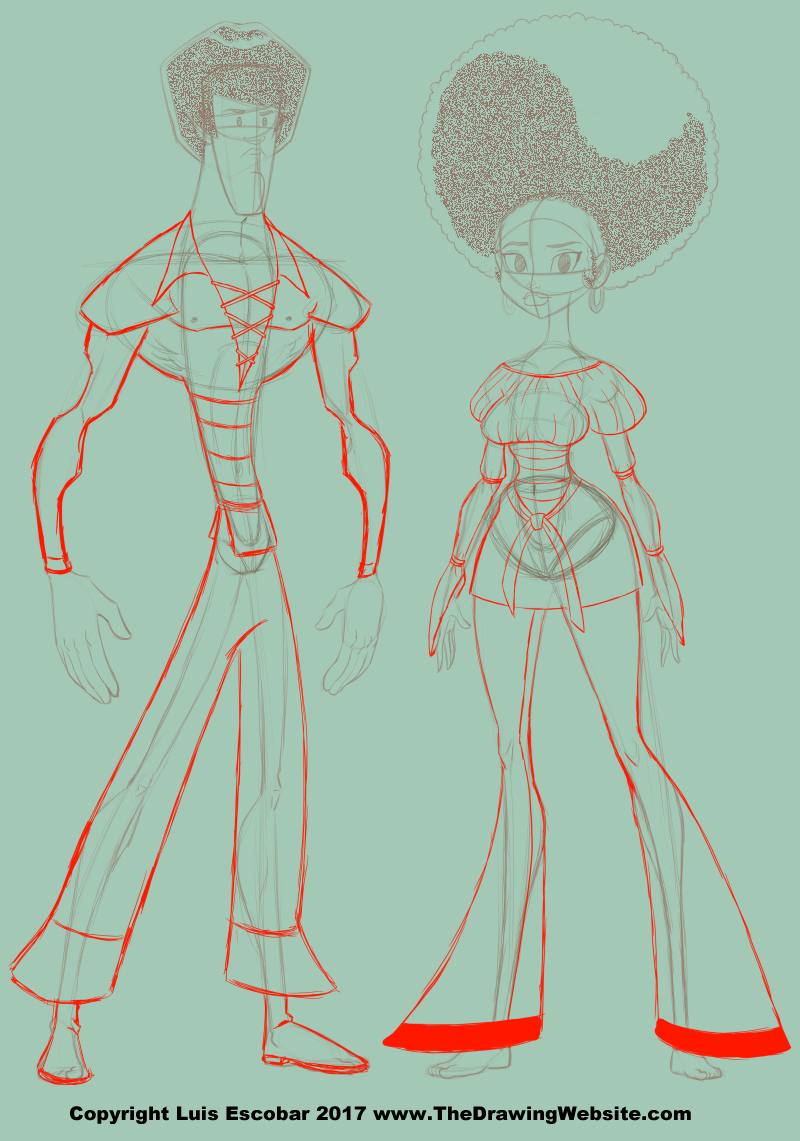 Cartoon Drawings Of People Full Body