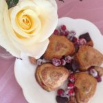 Cranberry Curd Heart Hand Pies