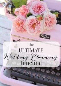 The Ultimate Wedding Planning Timeline