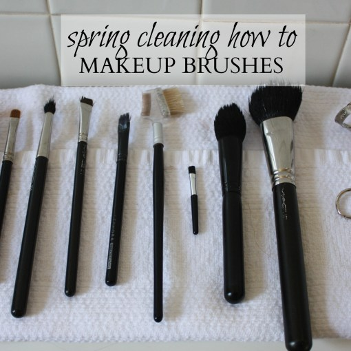 Spring Cleaning How To: Makeup Brushes