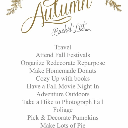 Autumn Goals | Dreamery Events