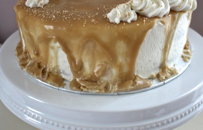 Tres Leches Cake with Caramel Glaze