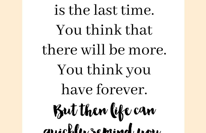 Inspiring Words : Life is Fleeting
