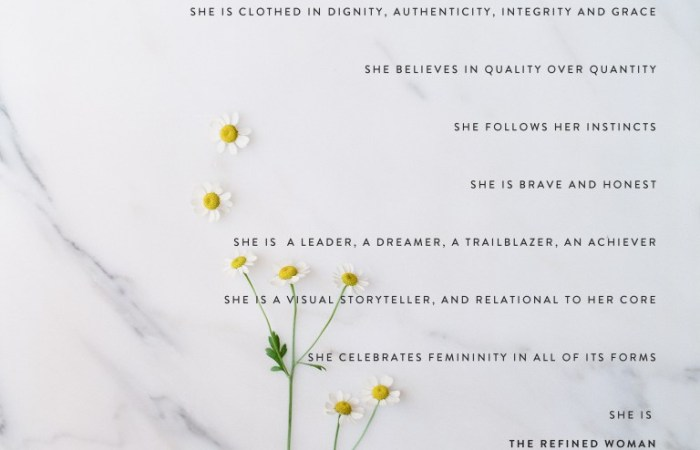 Inspiring Words : The Refined Woman | Dreamery Events