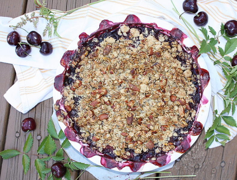 Cherry & Wine Granola Crisp