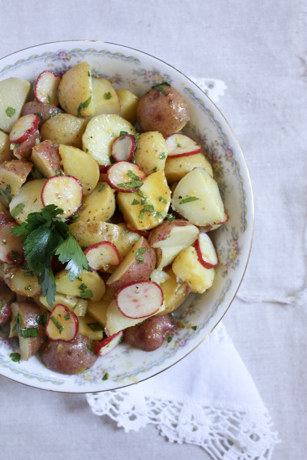 Lightened Heirloom Potato Salad with a Fresh Herb Mustard Dressing | Dreamery Events