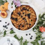 A Rustic Peach & Blueberry Cake