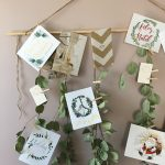 Handmade Holiday : DIY Eucalyptus Garland Holiday Card Display