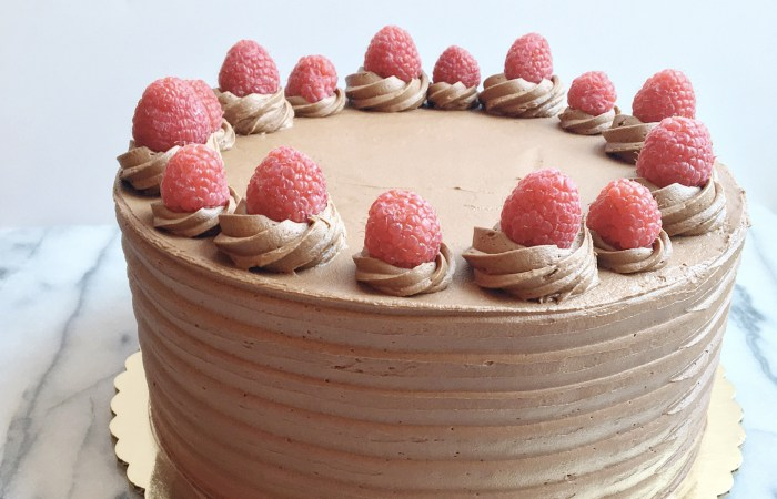 Chocolate Raspberry Cake with Whipped Chocolate Raspberry Buttercream