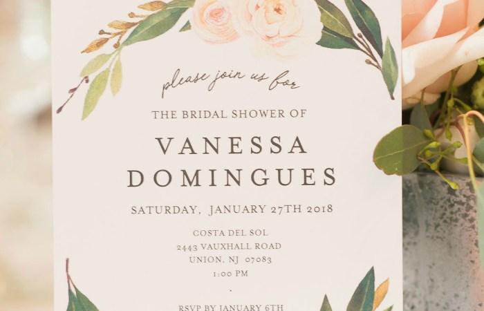 A Winter Garden Bridal Shower