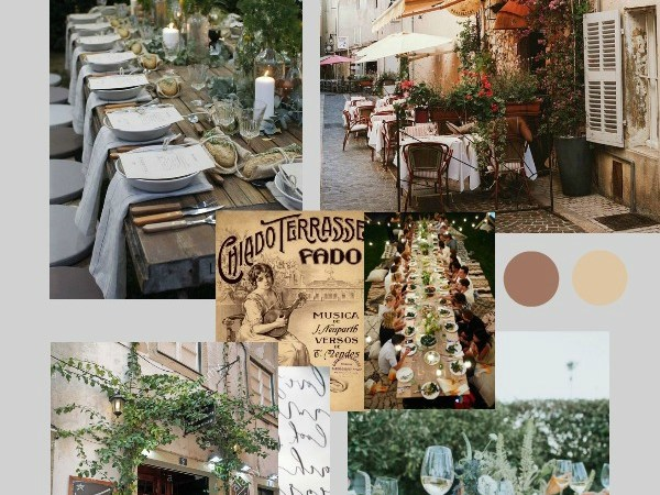 Mood Board : An Effortless Al Fresco European Cafe | End of Summer Party