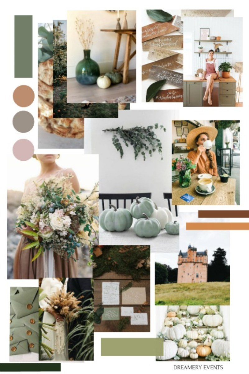 Autumn Vibes : Deep Golden & Naturally Earthy | Moodboard || Dreamery Events