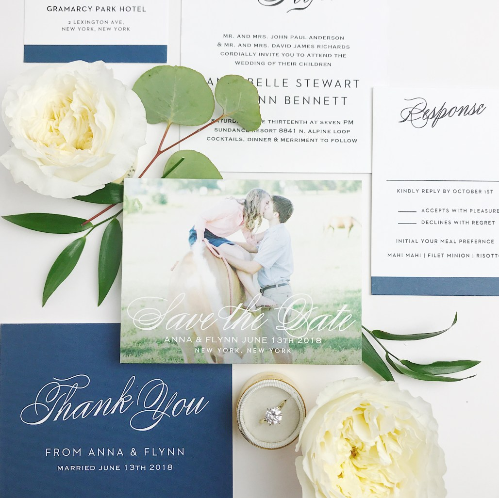 Formal Save the Dates with Basic Invite || Dreamery Events
