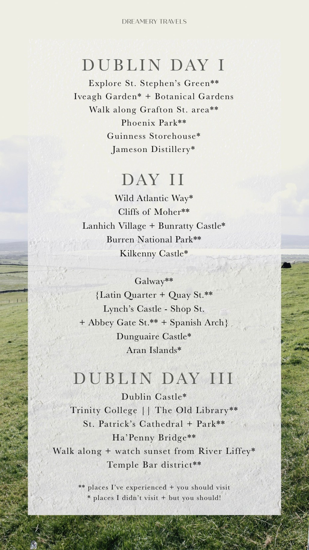 What to Eat, See & Do in 3 Days in Ireland || Dublin Based || Dreamery Travels