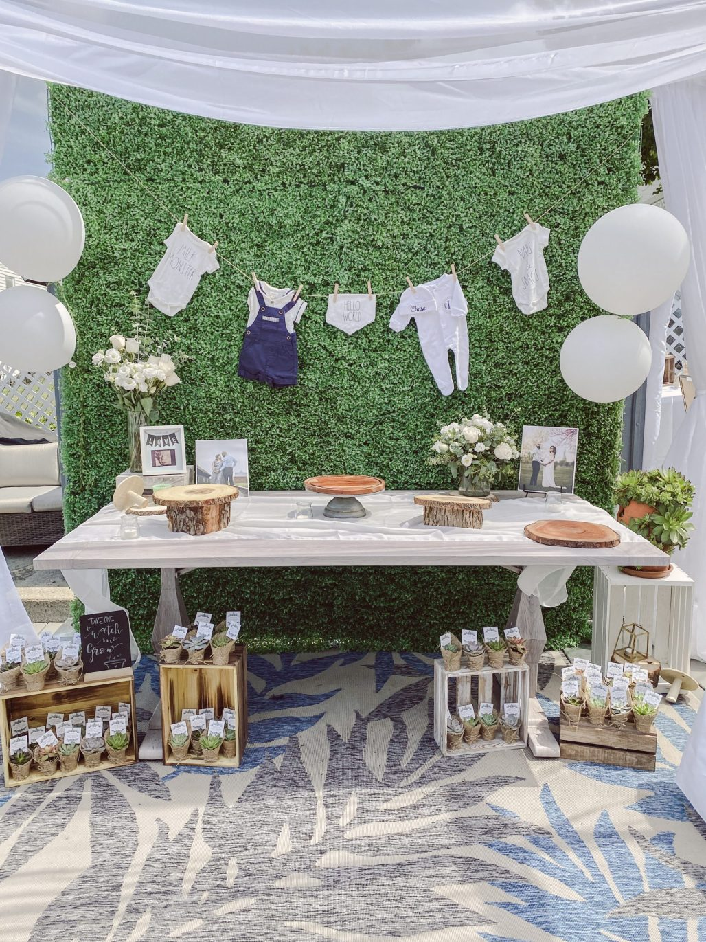 When a Rescheduled Baby Shower becomes a Calming & Safe Outdoor Affair || Dreamery Events