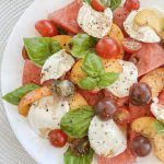 Watermelon, Peach + Tomato Caprese Salad … the only meal you'll want this Summer!