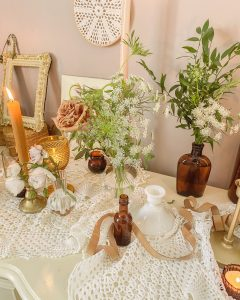 Amber is the Color of your Energy ... a Cottagecore Inspired Valentine's Tablescape || Dreamery Events